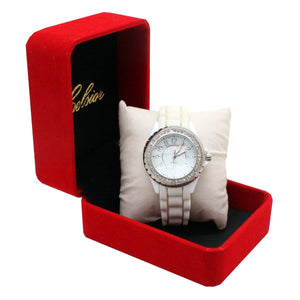 Celsior Ladie's White Watch with Silicone Band - Daves Deals