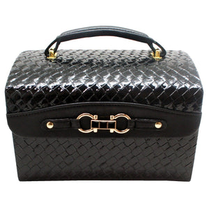 Crocodile Style Black Jewellery Box - Daves Deals