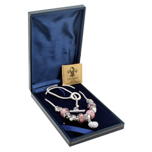 Lys Bleu Chambord Charm Necklace with Swarovski Elements - Daves Deals