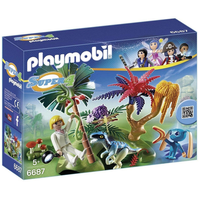 Playmobil Lost Island With Alien & Raptor