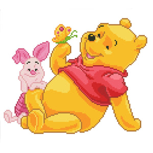 Pooh with Piglet by DIAMOND DOTZ, [Product Type] - Daves Deals
