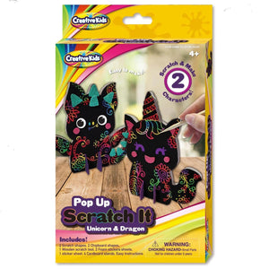 Pop Up Scratch It Unicorn & Dragon - Daves Deals
