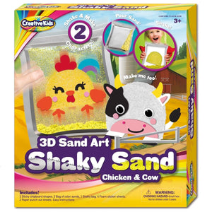3D Sand Art Shaky Sand Chicken & Cow, [Product Type] - Daves Deals