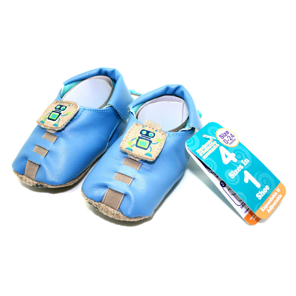 Shupeas Robot Design - Expandable & Adjustable Soft Sole Baby Shoes - Daves Deals