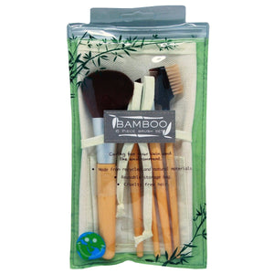 Bamboo 6 Pce Brush Set, [Product Type] - Daves Deals