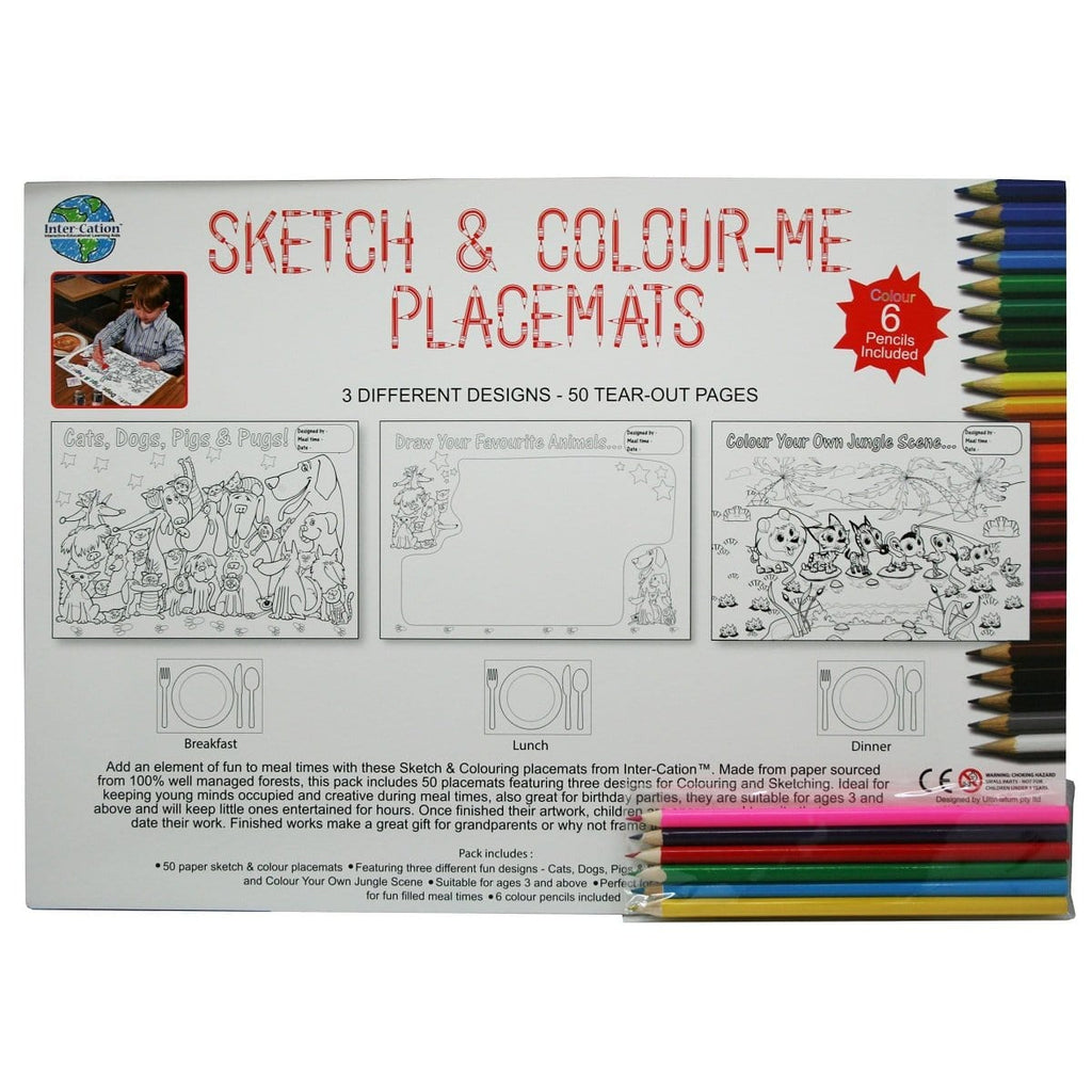 Sketch & Colour Placemats, [Product Type] - Daves Deals