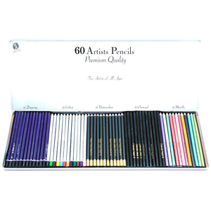 60 Artists Pencils In Tin, [Product Type] - Daves Deals