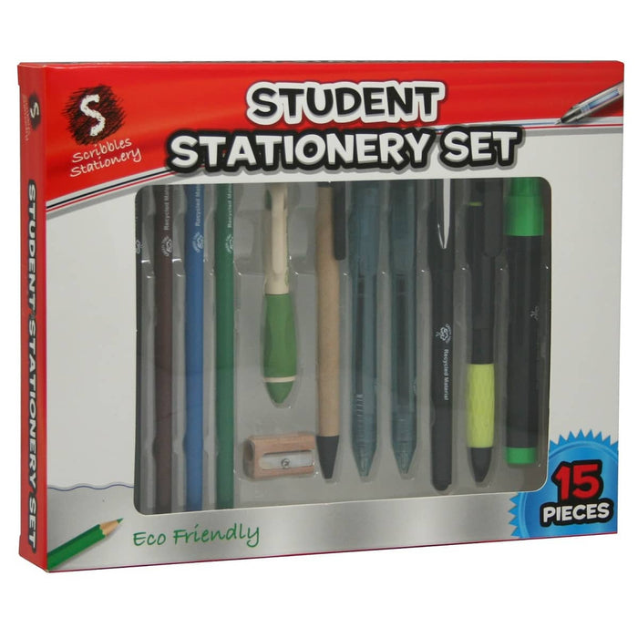 15 Piece Student Stationery Set