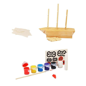 Make & Paint Your Own Pirate Ship, [Product Type] - Daves Deals
