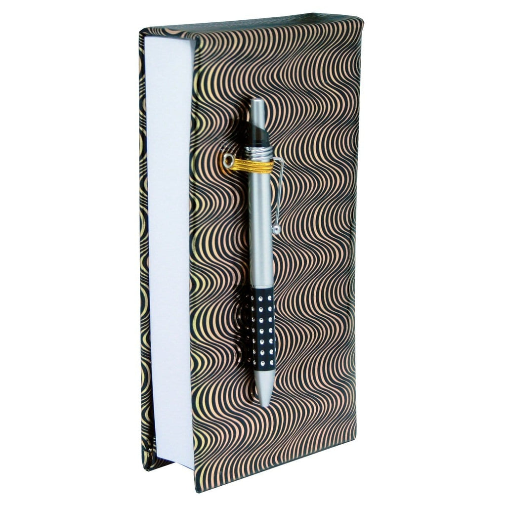 Scribbles Stationery Shopping List Note Pad - Black & Gold Swirl, [Product Type] - Daves Deals