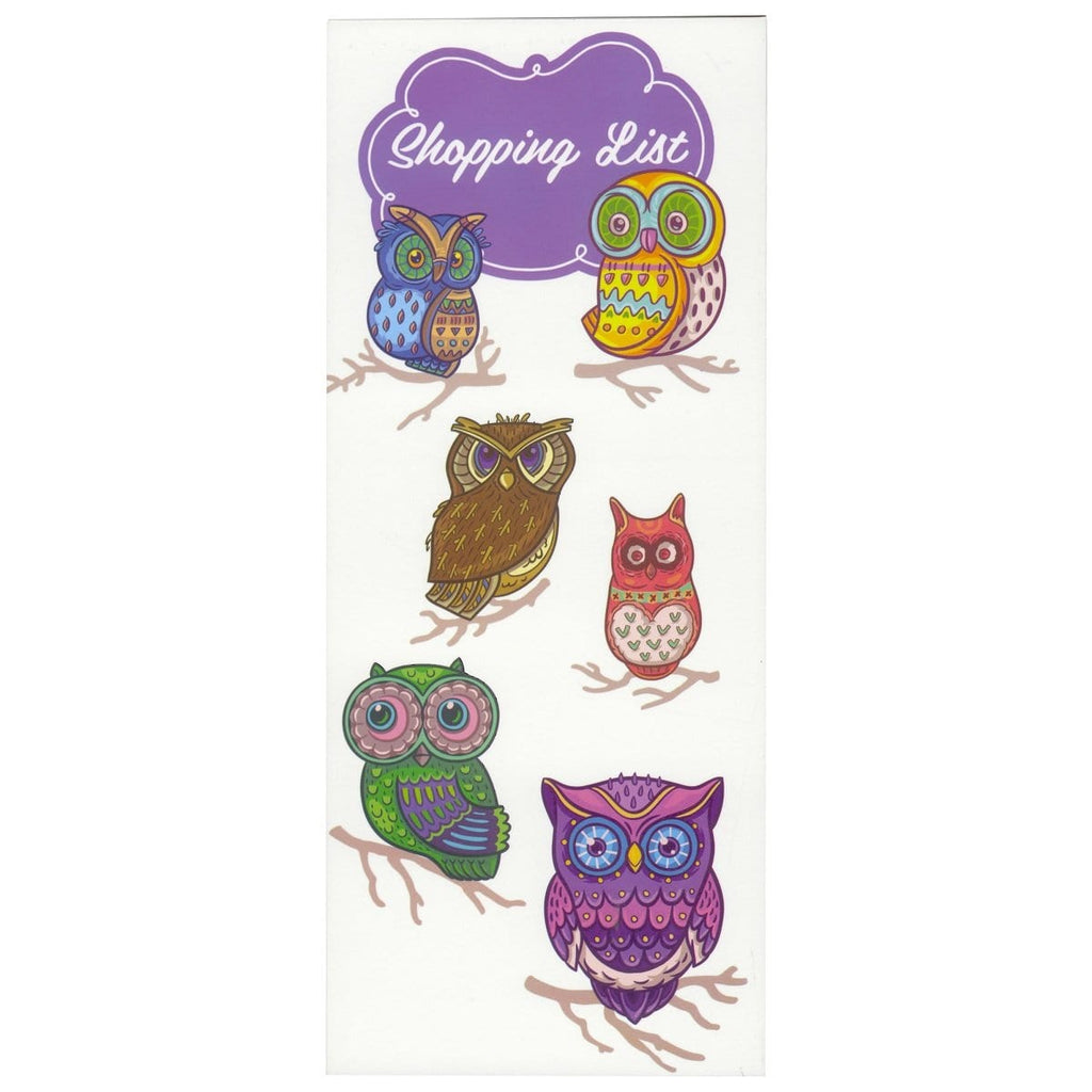 Scribbles Stationery Decorative Owls Shopping List Notepad, [Product Type] - Daves Deals