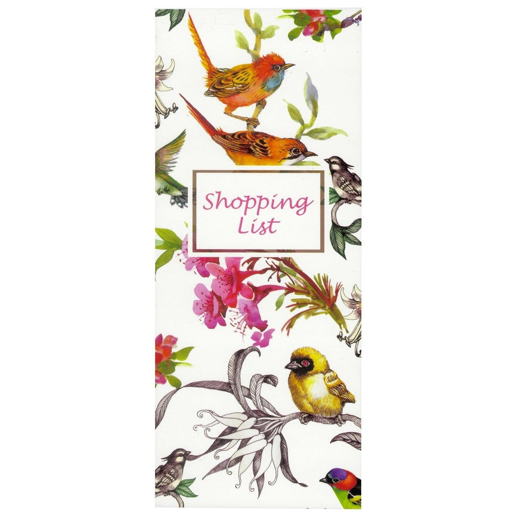 Scribbles Stationery Watercolour Birds Shopping List Notepad, [Product Type] - Daves Deals