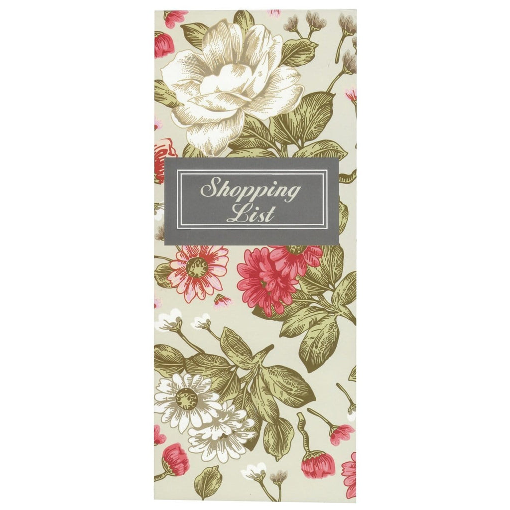 Scribbles Stationery Vintage Rose Shopping List Notepad - Daves Deals