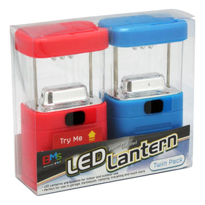 LED Lantern Twin Pack - Daves Deals