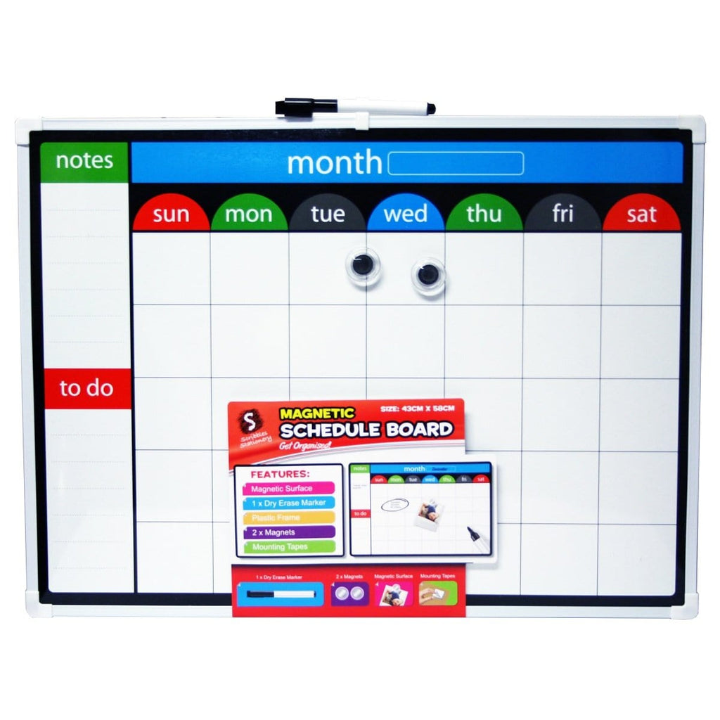 Magnetic Schedule Board, [Product Type] - Daves Deals