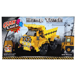 Click Lock - Dump Truck 619 Piece Construction Set, [Product Type] - Daves Deals