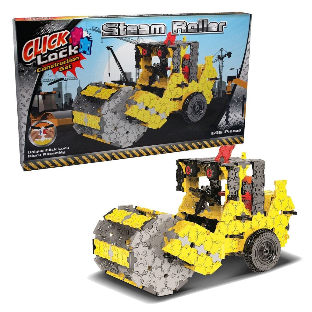 Click Lock - Steam Roller 695 Piece Construction Set, [Product Type] - Daves Deals