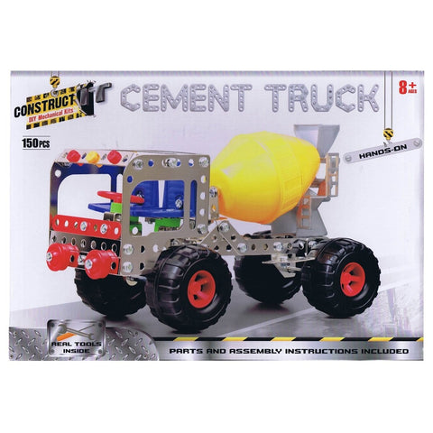 Construct-It Cement Truck 150 Piece Kit, [Product Type] - Daves Deals