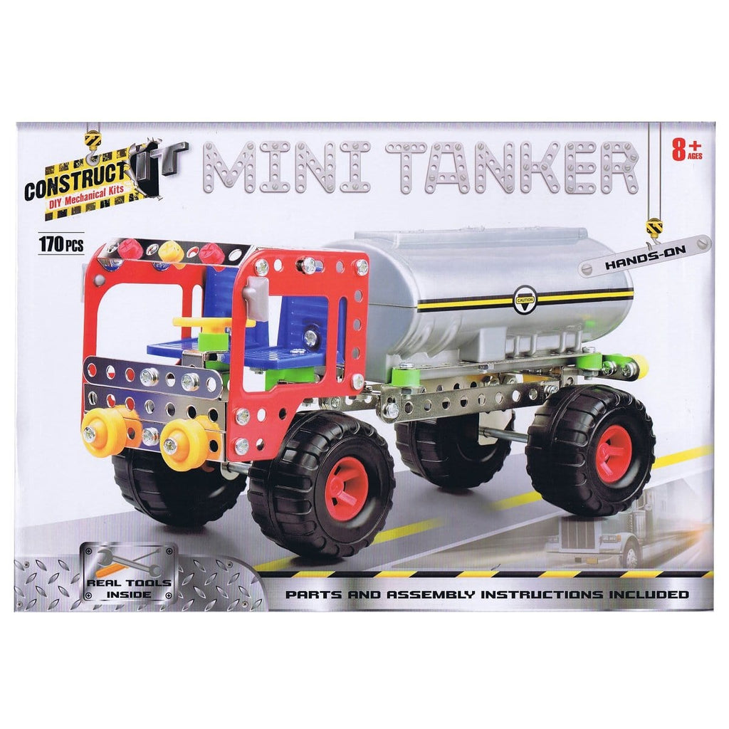 Construct-It Mini Tanker 170 Piece Kit, [Product Type] - Daves Deals