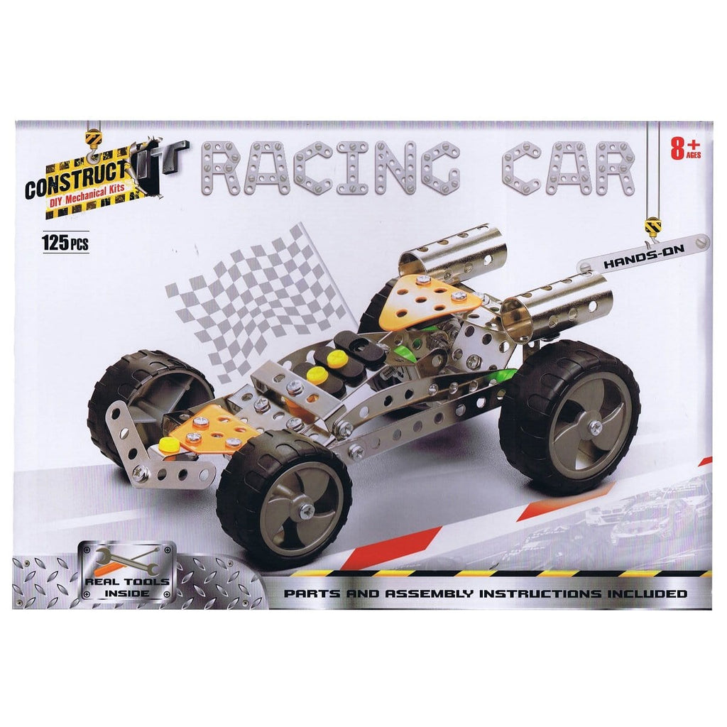 Construct-It Racing Car 125 Piece Kit, [Product Type] - Daves Deals