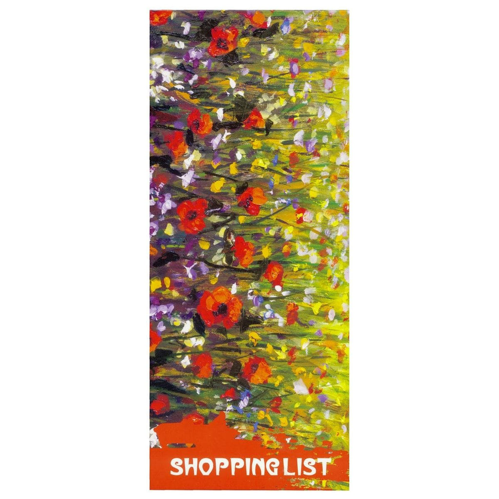 Scribbles Stationery Impressionist Flowers Shopping List Notepad, [Product Type] - Daves Deals