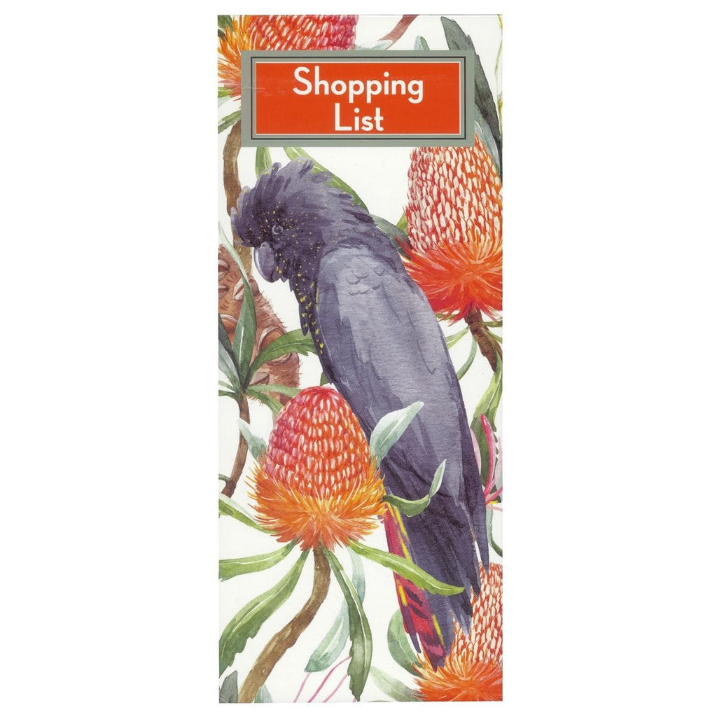 Scribbles Stationery Black Cockatoo Shopping List Notepad, [Product Type] - Daves Deals