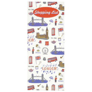 Scribbles Stationery London Shopping List Notepad