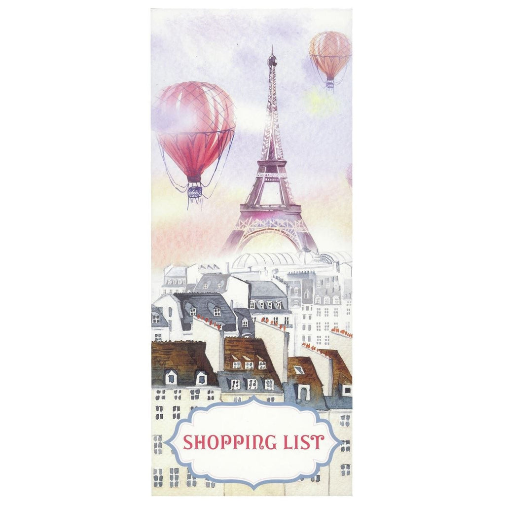 Scribbles Stationery Paris With Balloons Shopping List Notepad