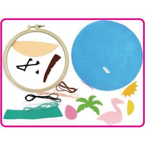 Make Your Own Embroided Flamingo