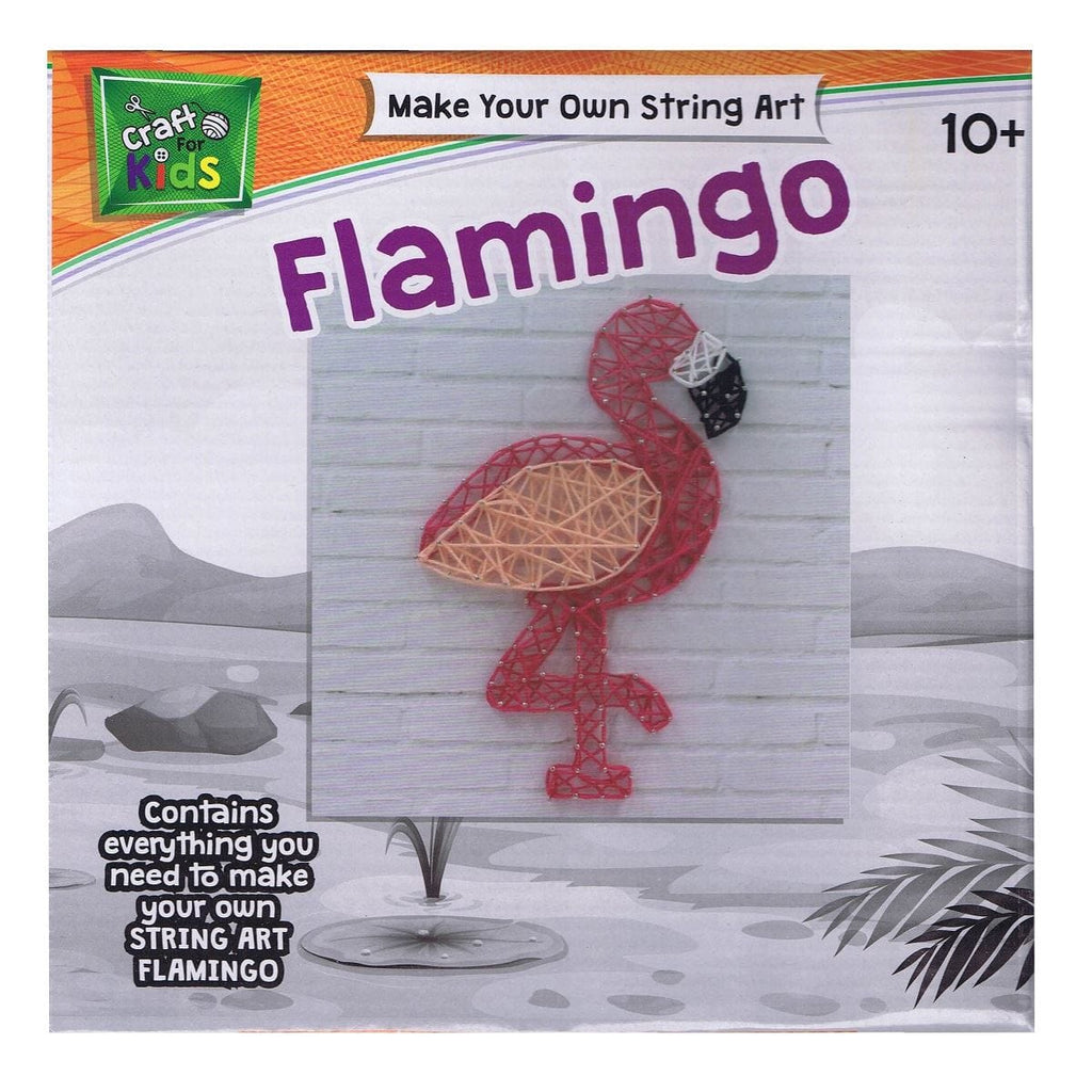 Make Your Own String Art Flamingo - Daves Deals