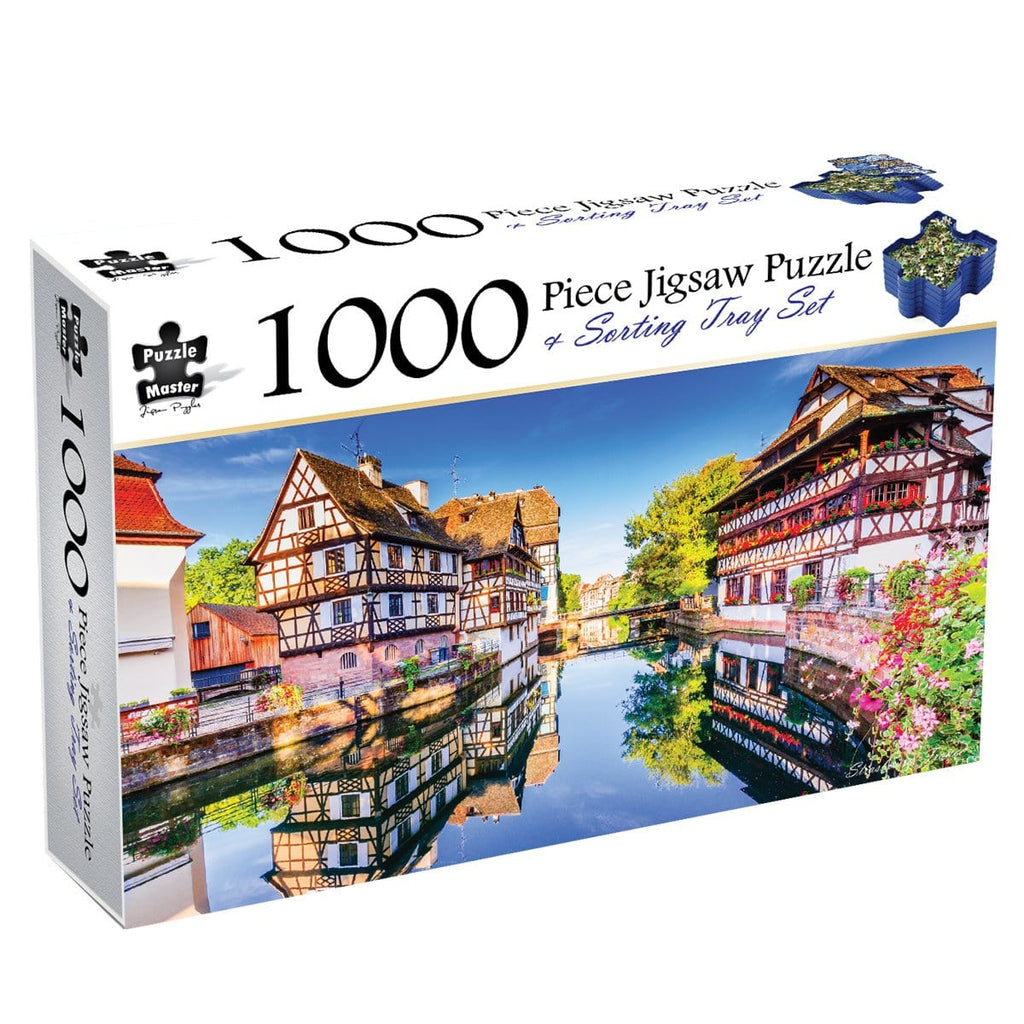 Strasbourg, France, 1000 Piece Puzzle & Sorting Tray, [Product Type] - Daves Deals