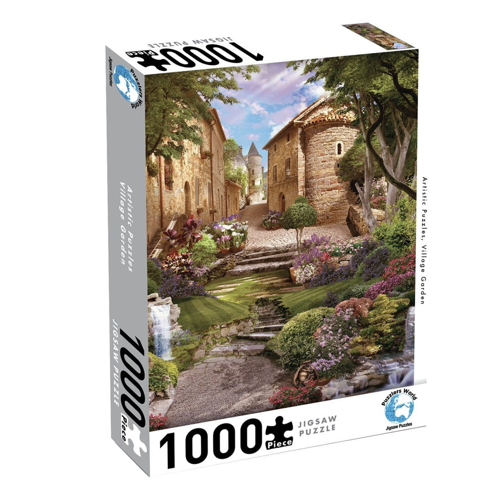 Puzzlers World - Artistic Puzzles Village Garden, [Product Type] - Daves Deals