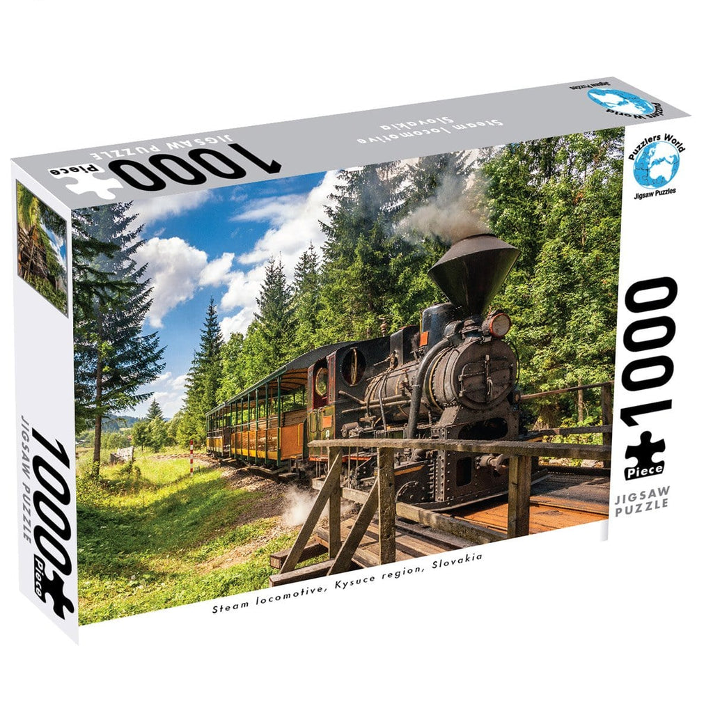 1000 Pce Puzzle - Steam Locomotive, Kysuce, Slovakia - Daves Deals