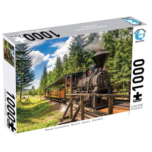 1000 Pce Puzzle - Steam Locomotive, Kysuce, Slovakia, [Product Type] - Daves Deals