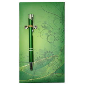 Green Pattern Notepad With Pen - Stationery - Daves Deals - 3