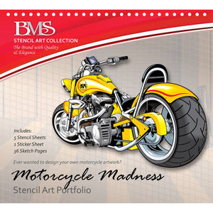 Motorcycle Madness Stencil Art Portfolio - Daves Deals
