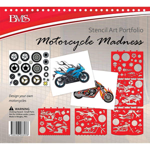Motorcycle Madness Stencil Art Portfolio, [Product Type] - Daves Deals