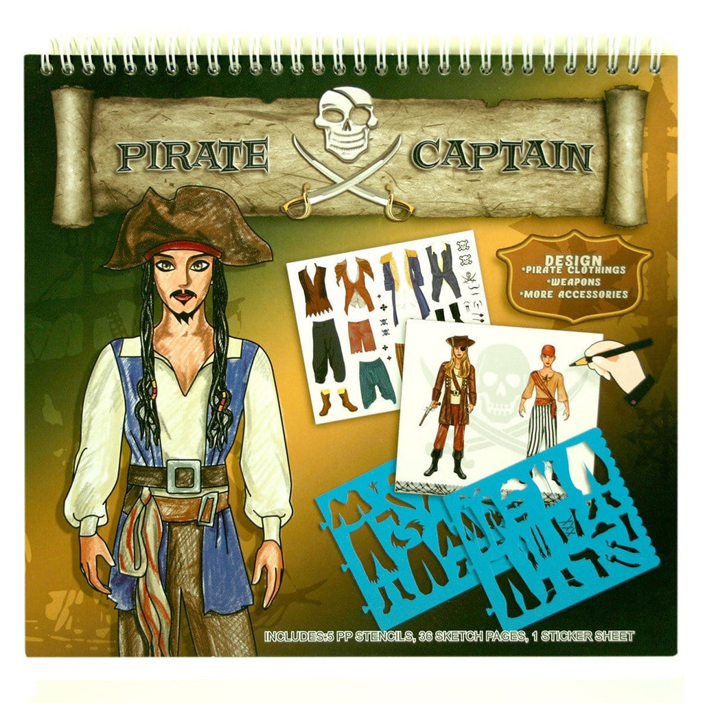 Pirate Captain Stencil Art Portfolio - Daves Deals