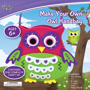 Make Your Own Owl Handbag - Craft Kits - Daves Deals - 1