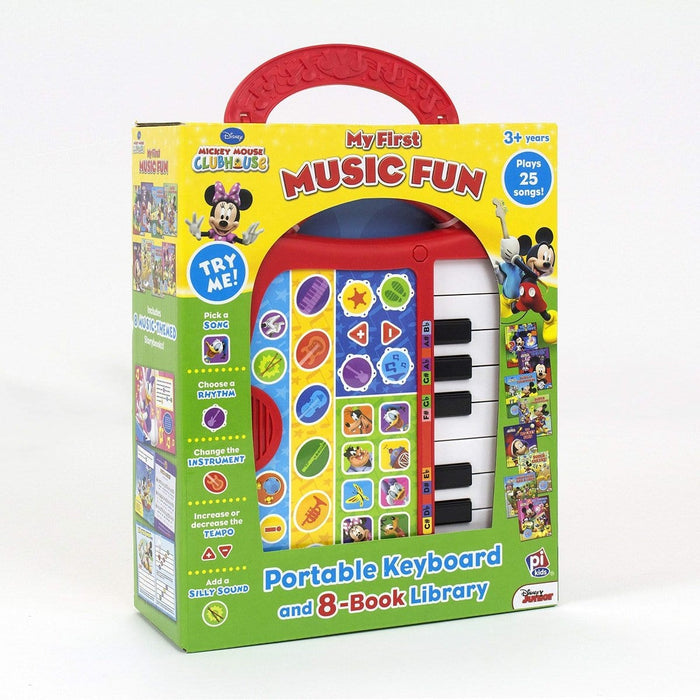 Disney Mickey Mouse Clubhouse - My First Music Fun Portable Electronic Keyboard and 8-Book Library