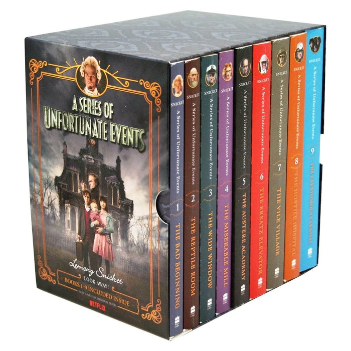 A Series Of Unfortunate Events Books 1-9 Netflix Tie-In Boxset