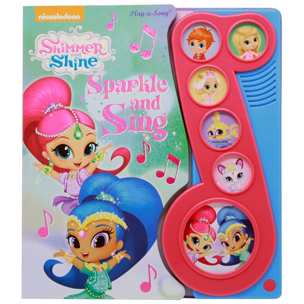 Shimmer and Shine - Sparkle and Sing Play-a-Song Little Music Note Book - Daves Deals