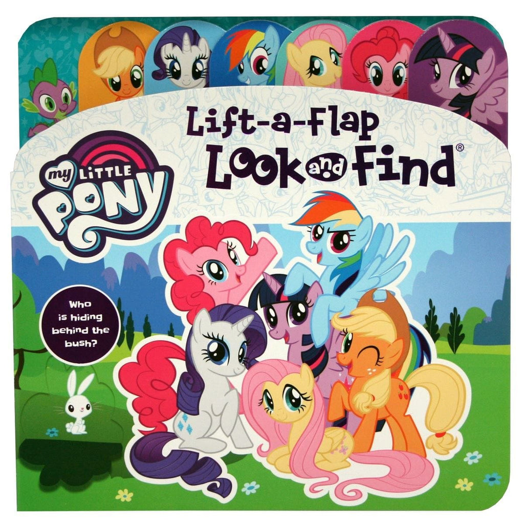 My Little Pony Who Is Hiding Behind The Bush? - Lift-a-Flap Look and Find - Daves Deals