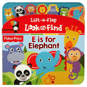Fisher Price E Is For Elephant - Lift-a-Flap Look and Find - Daves Deals