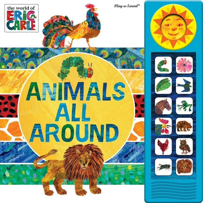 The World Of Eric Carle Animals All Around - Deluxe Custom Frame Play-a-Sound Book