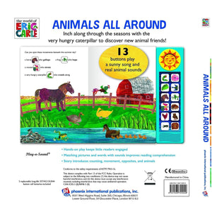 The World Of Eric Carle Animals All Around - Deluxe Custom Frame Play-a-Sound Book, [Product Type] - Daves Deals