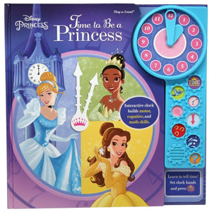 Disney Princess - Time To Be A Princess Play-a-Sound Book with Interactive Clock, [Product Type] - Daves Deals