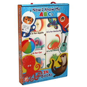 Now I Know My ABCs - My First Carry Case 24 Board Books, [Product Type] - Daves Deals