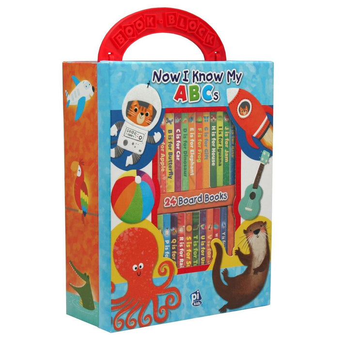 Now I Know My ABCs - My First Library 24 Board Book Block