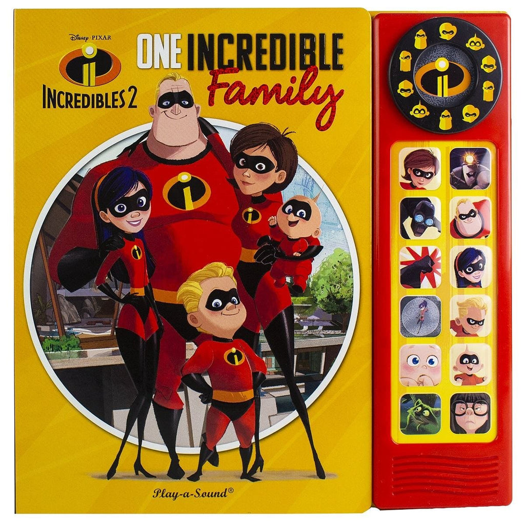 The Incredibles 2 - One Incredible Family Custom Frame Play-a-Sound Book, [Product Type] - Daves Deals